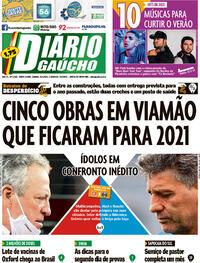 Capa do jornal Diário Gaúcho 23/01/2021