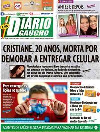 Capa do jornal Diário Gaúcho 25/09/2021