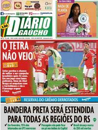Capa do jornal Diário Gaúcho 26/02/2021