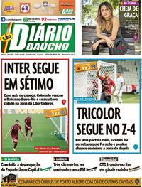 Capa do jornal Diário Gaúcho 27/09/2021