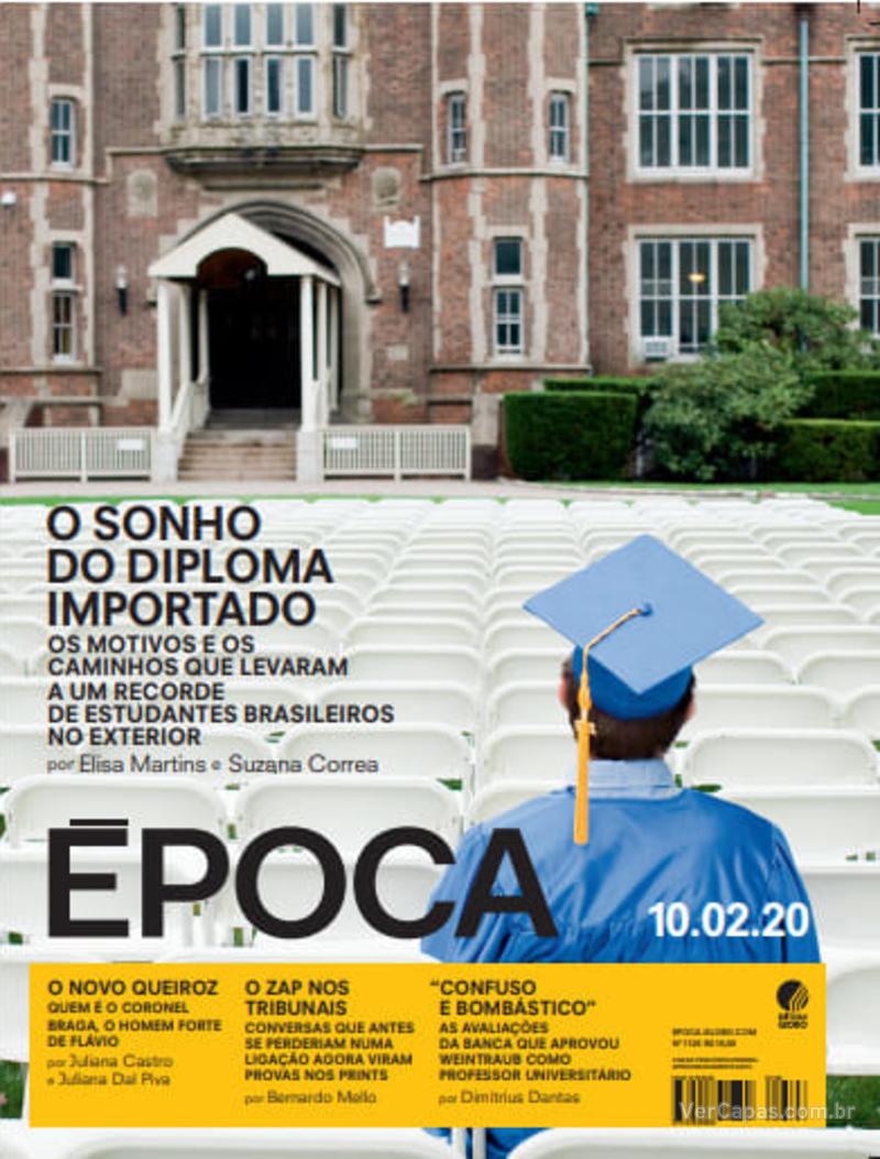 Capa revista Época 08/02/2020