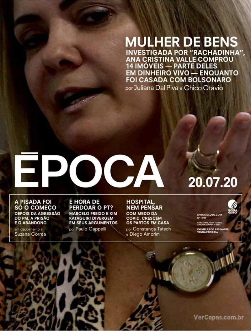 Capa da revista Época 18/07/2020