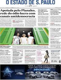 Capa do jornal Estadão 04/12/2020