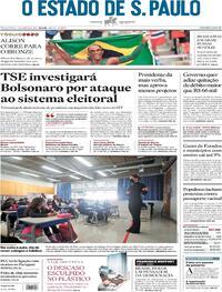 Capa do jornal Estadão 03/08/2021