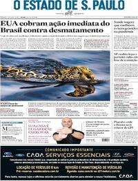 Capa do jornal Estadão 17/04/2021
