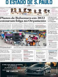 Capa do jornal Estadão 19/06/2021
