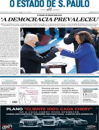 Capa do jornal Estadão 21/01/2021