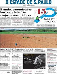 Capa do jornal Estadão 24/01/2021