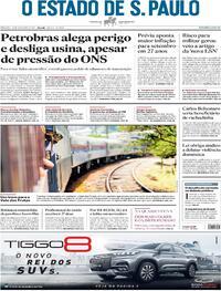 Capa do jornal Estadão 25/09/2021