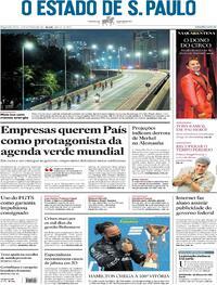 Capa do jornal Estadão 27/09/2021