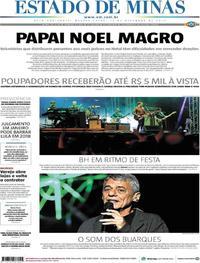Capa Estado de Minas 2017-12-13