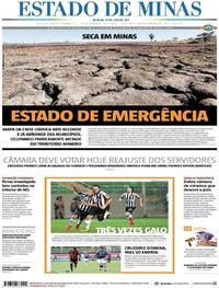 Capa Estado de Minas 2017-11-20
