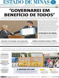 Capa Estado de Minas 2018-12-11