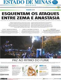 Capa Estado de Minas 2018-10-14