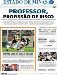 Capa Estado de Minas 2018-10-15
