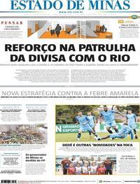 Capa Estado de Minas 2018-02-23