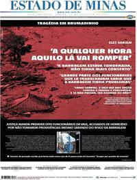 Capa Estado de Minas 2019-02-16