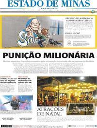 Capa Estado de Minas 2019-12-11