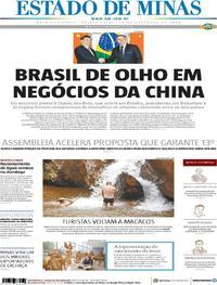 Capa Estado de Minas 2019-11-14