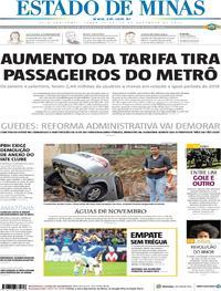 Capa Estado de Minas 2019-11-19