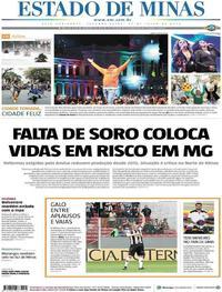 Capa Jornal Estado de Minas