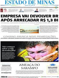 Capa Estado de Minas 2019-08-22