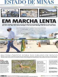 Capa do jornal Estado de Minas 04/08/2020