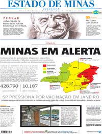 Capa do jornal Estado de Minas 04/12/2020