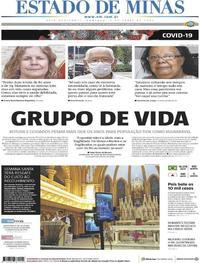Capa do jornal Estado de Minas 05/04/2020