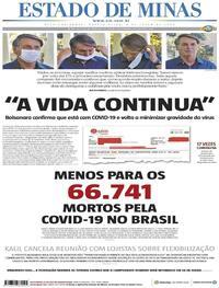 Capa do jornal Estado de Minas 08/07/2020