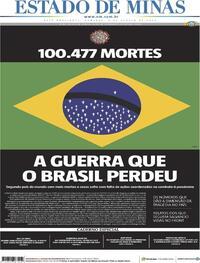 Capa do jornal Estado de Minas 09/08/2020
