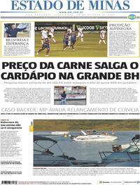 Capa do jornal Estado de Minas 20/10/2020