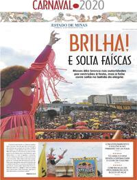 Capa Estado de Minas 2020-02-23
