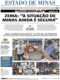 Capa do jornal Estado de Minas 26/05/2020