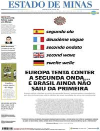 Capa do jornal Estado de Minas 29/10/2020