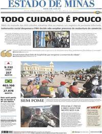 Capa do jornal Estado de Minas 30/05/2020