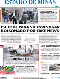 Capa do jornal Estado de Minas 03/08/2021