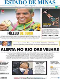 Capa do jornal Estado de Minas 04/08/2021