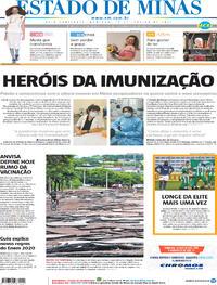 Capa do jornal Estado de Minas 17/01/2021
