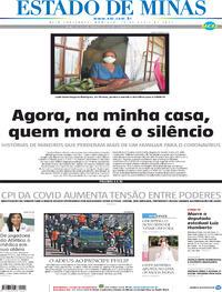 Capa do jornal Estado de Minas 18/04/2021