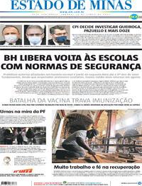 Capa do jornal Estado de Minas 19/06/2021