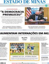 Capa do jornal Estado de Minas 21/01/2021