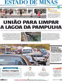 Capa do jornal Estado de Minas 25/09/2021