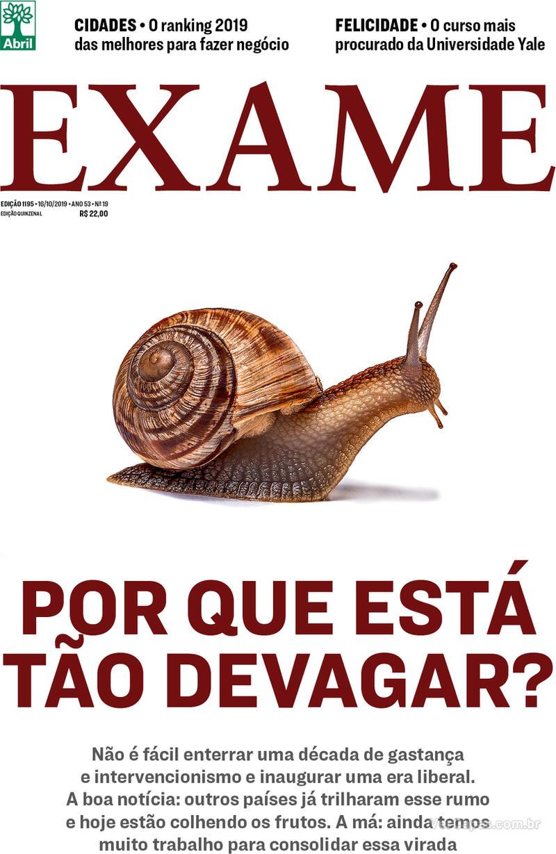 Capa revista Exame 10/10/2019