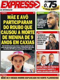 Capa Jornal Expresso da Informação