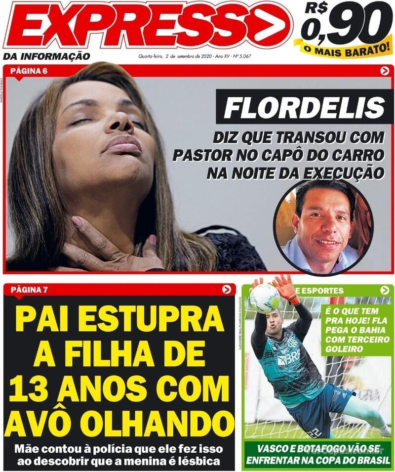 Capa do jornal Expresso da Informação 02/09/2020