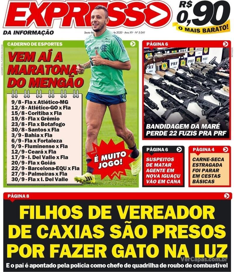 Capa do jornal Expresso da Informação 07/08/2020