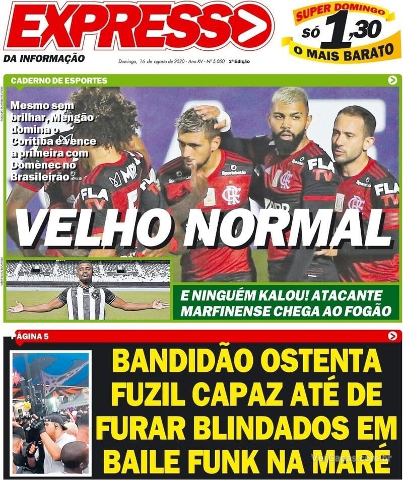 Capa do jornal Expresso da Informação 16/08/2020
