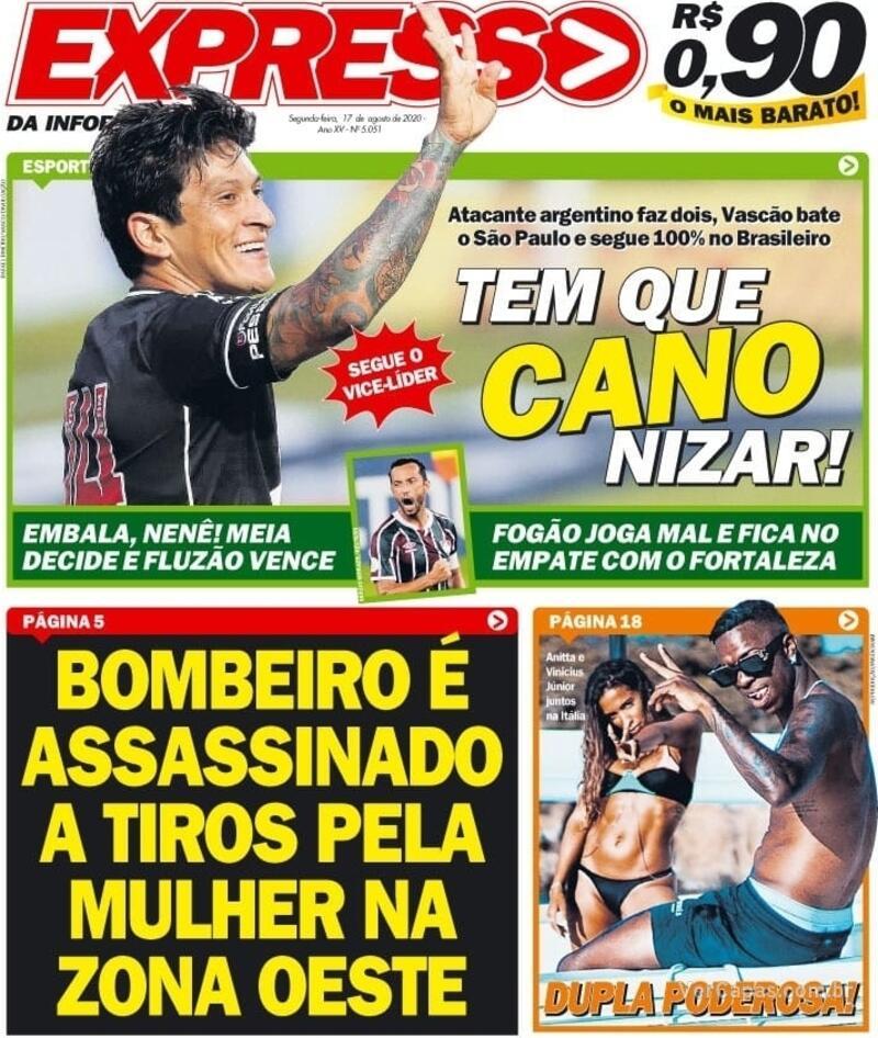 Capa do jornal Expresso da Informação 17/08/2020