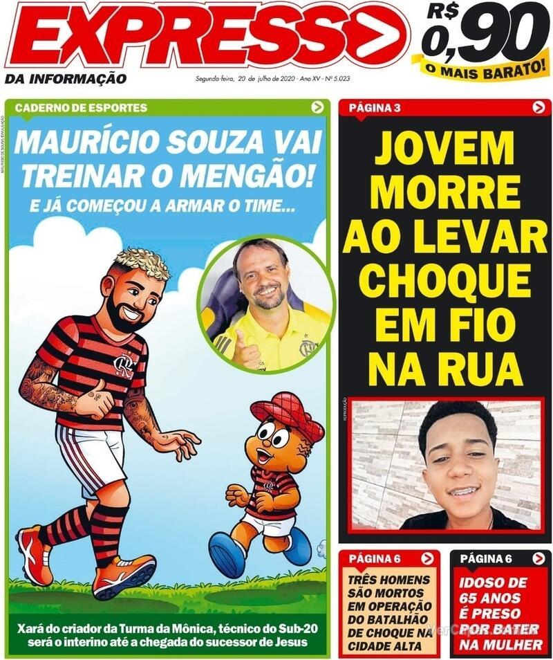 Capa do jornal Expresso da Informação 20/07/2020